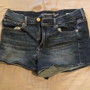 Size 12 dark wash American Eagle shorts
